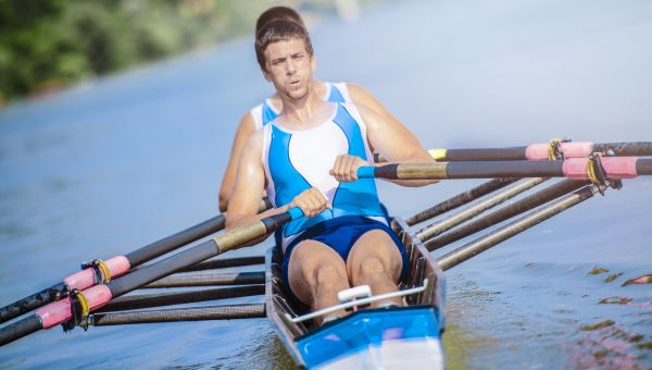 Rowing can burn around 1200 calories