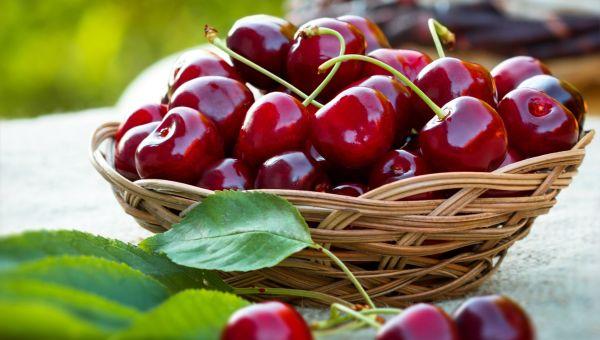 Snack on fresh cherries