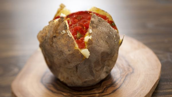 2. Baked potato with salsa