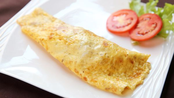 4. Egg and cheddar omelet