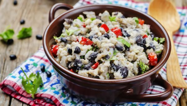 24. Black beans and brown rice