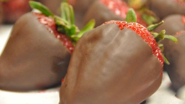 35. Chocolate-covered strawberries