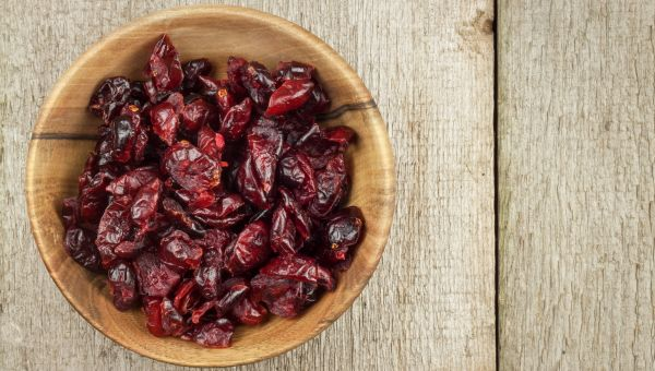 40. Dried cranberries