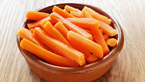 67. Carrot sticks and peanut butter