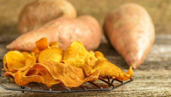 84. Baked sweet potato chips