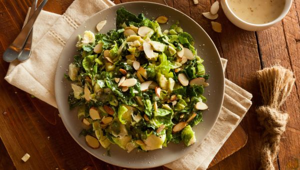 Warm Brussels sprouts and Pears