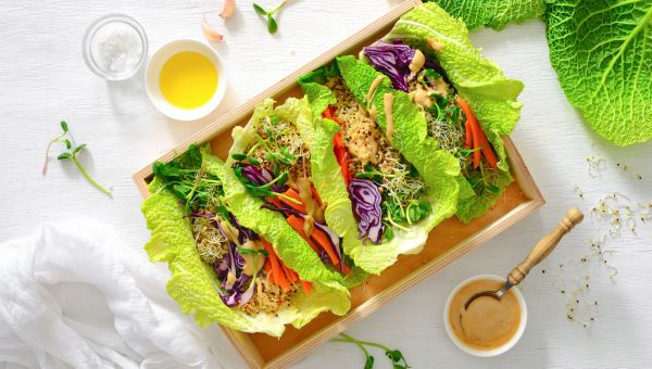Lunch: lettuce wraps