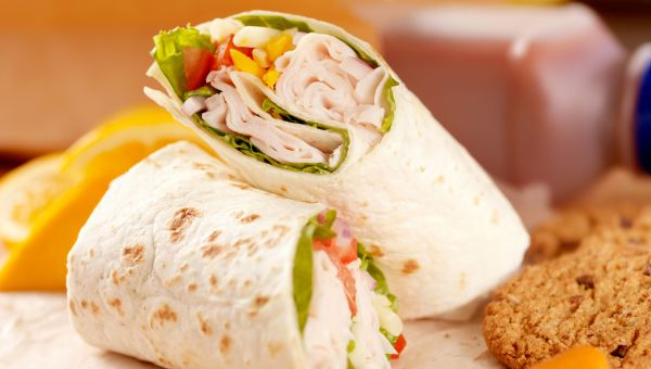 Turkey and Spinach Wrap