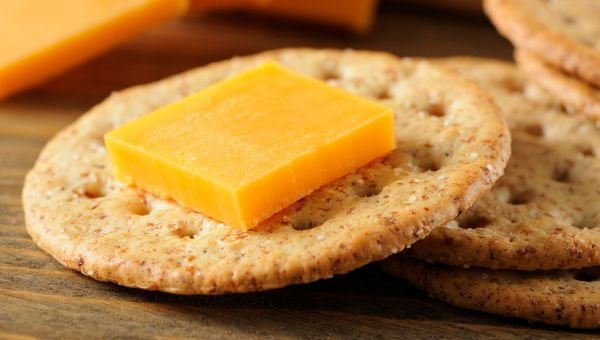 19. Cheese and crackers