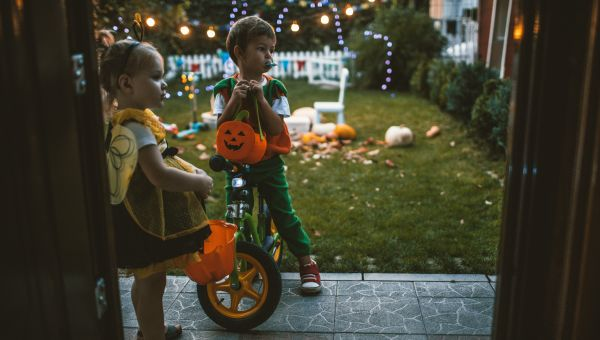 Trick-or-treating after dark