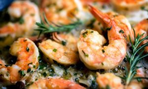 Anti-Inflammatory Recipe: Jumbo Shrimp and Grilled Greek Garlic