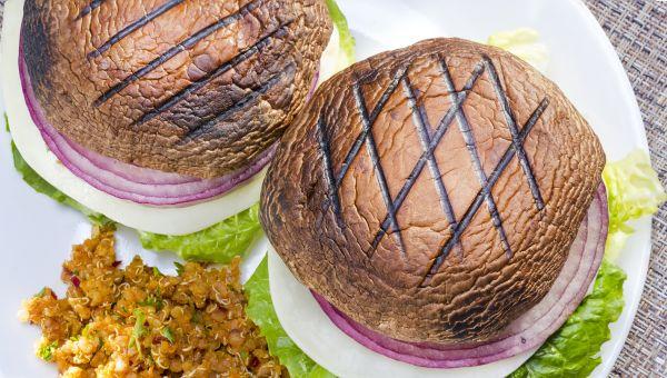 Open-Faced Turkey-Portobello Burgers Recipe