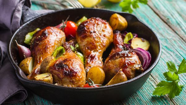 One-Pan Chicken and Potatoes With Sweet Mustard Recipe