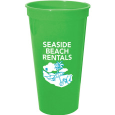 24oz Smooth Imprinted Stadium Cups