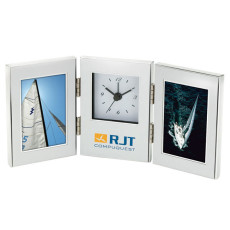 """Engraved 2 - 2"""" x 3"""" Frames and Clock"""
