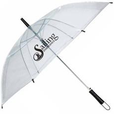"Logo 46"" Arc Clear Umbrella"