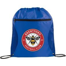 Zippered Side Mesh Drawstring Sportspack