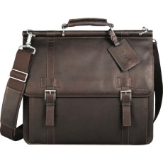 Kenneth Cole Colombian Leather Dowel Rod Messenger Bag