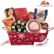 Maple Ridge Farms Holiday Snowflake Basket