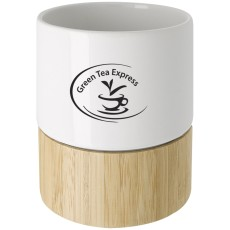 8 oz. Ceramic and Bamboo Mug