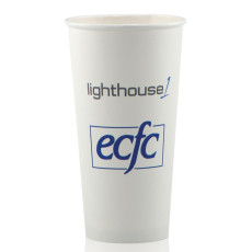 20 oz. White Paper Cups