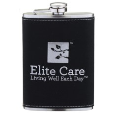 Leatherette Wrapped 8 oz. Flask