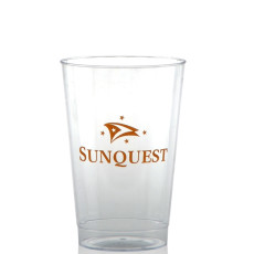 12 oz. Clear Fluted Plastic Cups