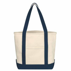 Printable Small Heavy Cotton Canvas Boat Tote