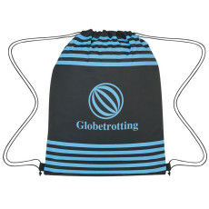 Printed Striped Drawstring Sports Pack