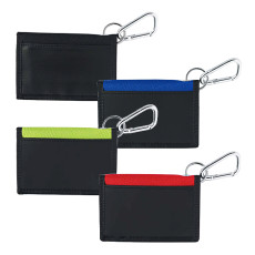 Printed Velcro Wallet With Carabiner