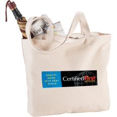 Promo Signature Cotton Zippered Shopper Tote
