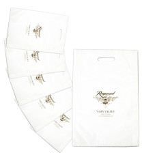 Imprinted Frosted Die Cut Merchandise Bags