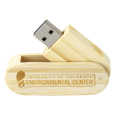 8GB Wooden Swivel Drive