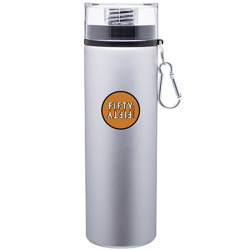 28 oz h2go Silver Trek Aluminum Bottle