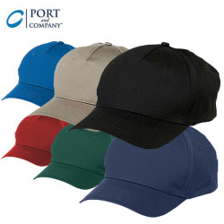 Port & Company® Five Panel Twill Cap