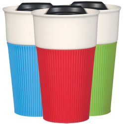 13 Oz. Ceramic Mug with Silicone Sleeve