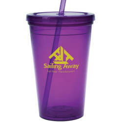 Custom 16 oz. Plastic Tumblers With Lids