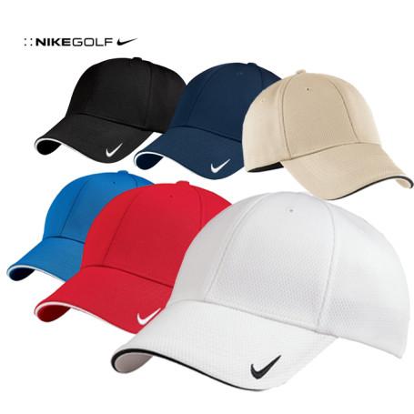 NIKE Golf DriFIT Mesh Swoosh Flex Sandwich Cap