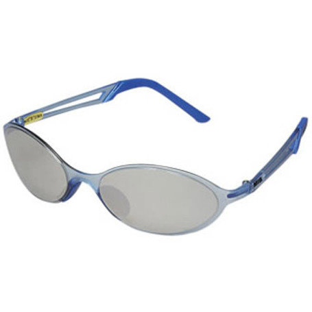 Custom Sunglasses Blue Frames w/Mirror Lenses