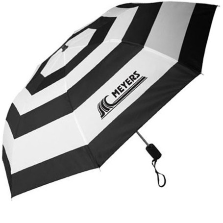 Promo Nautical Stripe Auto Open Folding Umbrella