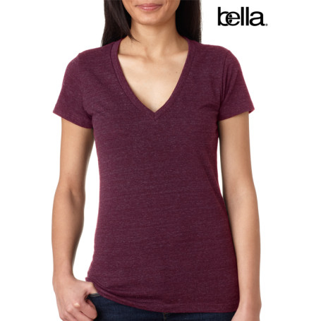 Bella Tri-blend Deep V-neck Tee