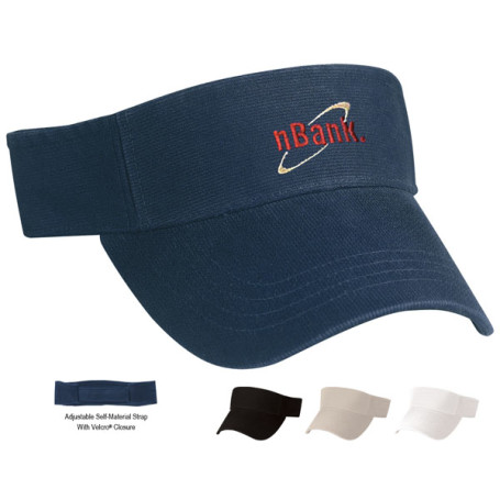Custom Logo Cotton Chino Visor