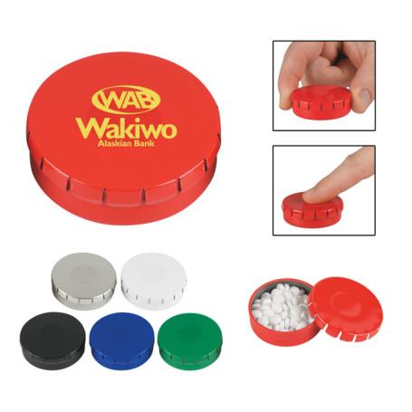 Custom Peppermints In Circle Tin