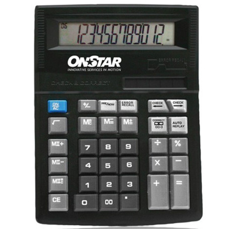 Custom Printed Solar Power Desktop Calculator