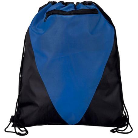 Custom Printed Zippered Drawstring Bag