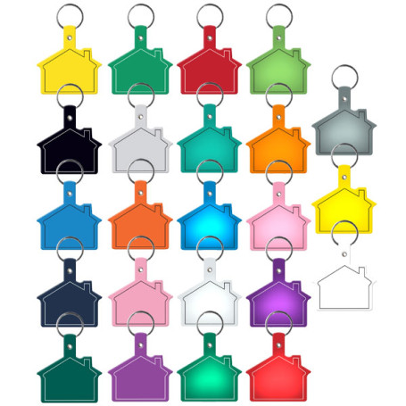 Customizable House Flexible Key Tag