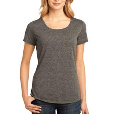 District Made Ladies Tri-Blend Lace Scoop Tee