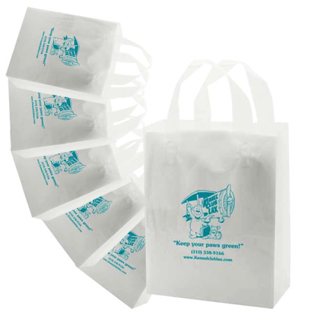 Promotional Frosted Soft Loop Handle Bags