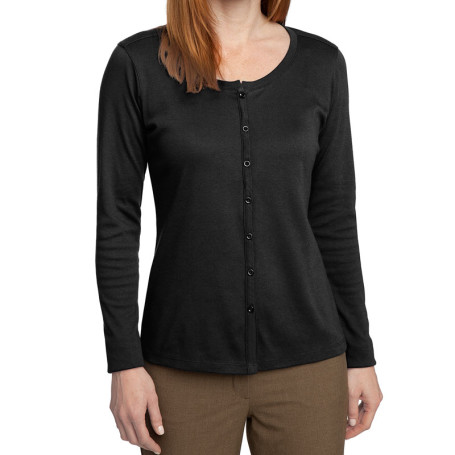 Port Authority Ladies Silk Touch Interlock Cardigan (Apparel)