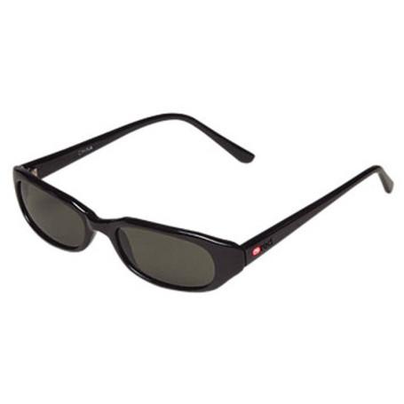 Logo Glossy Frames Sunglasses with Dark Lenses